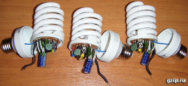 Энергосберегающие лампы переделка своими руками5