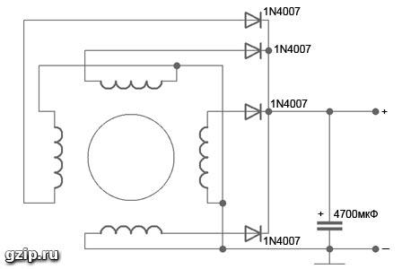 Схема генератор мотор