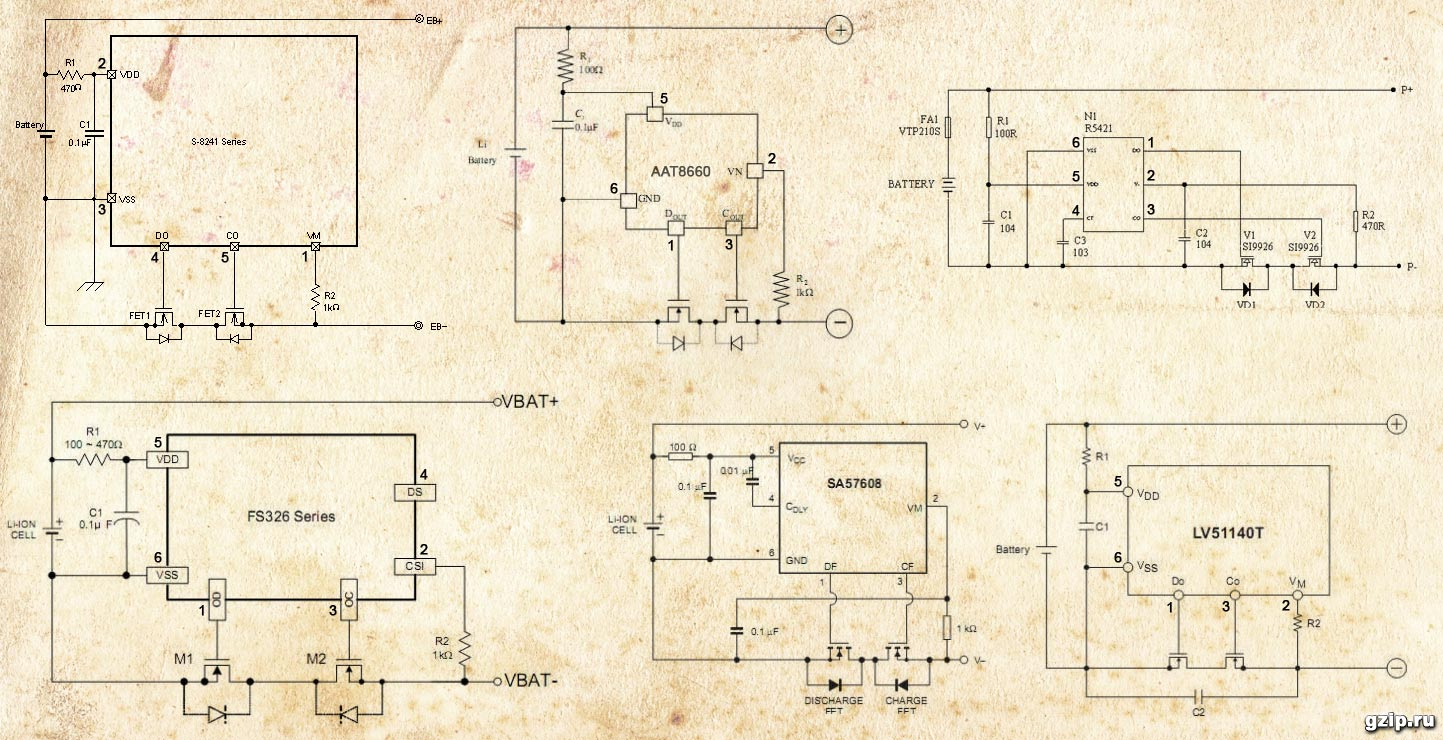 Схемы контроллеров защиты литиевых аккумуляторов