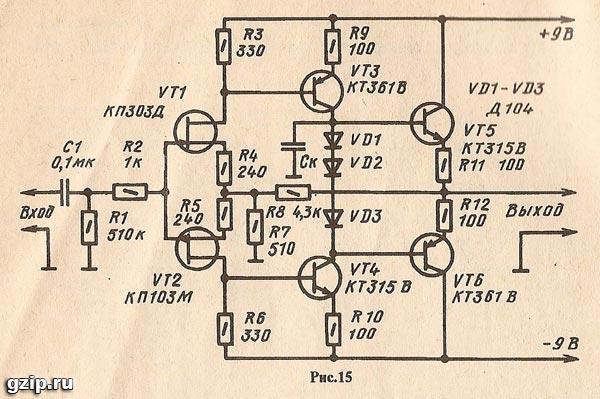 радиоэлектроника принципиальные схемы