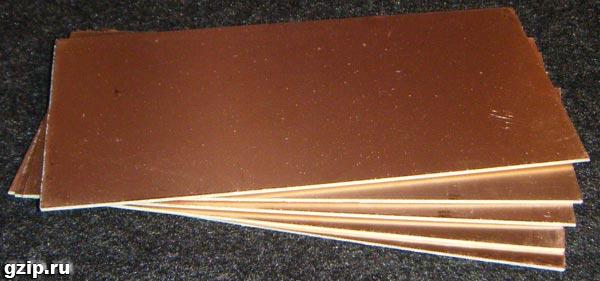 Как сделать фольгированный текстолит