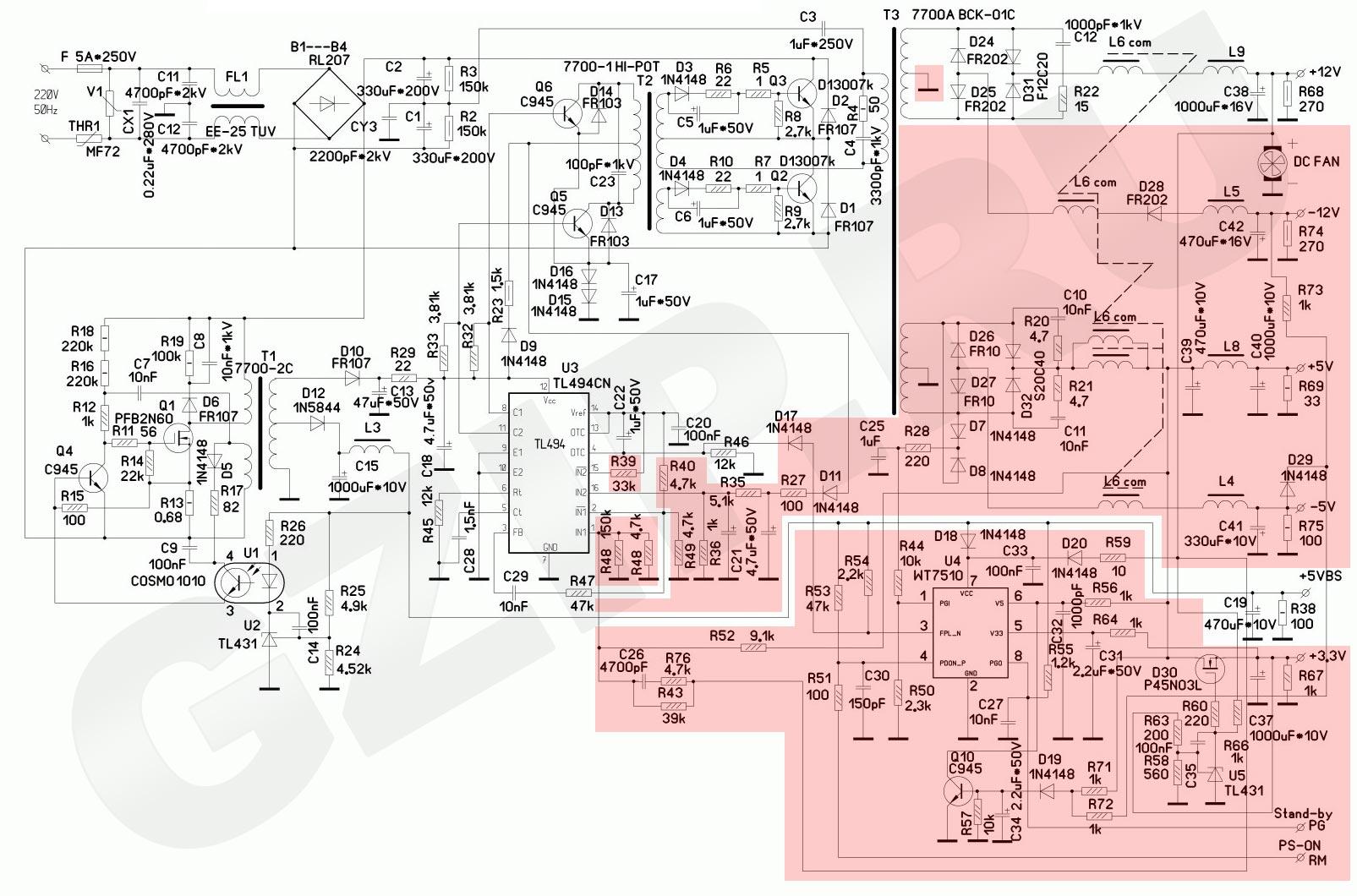 Лабораторный блок питания своими руками 1,3-30В 0-5А 80