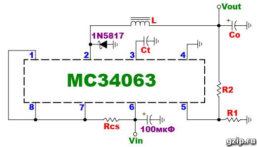 Схема mc34063 12 вольт