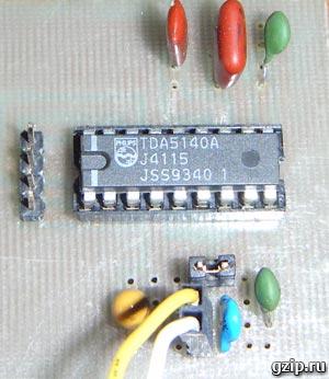 Печатная плата с микросхемой TDA5140A