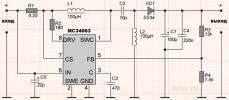 Схема SEPIC преобразователя на MC34063